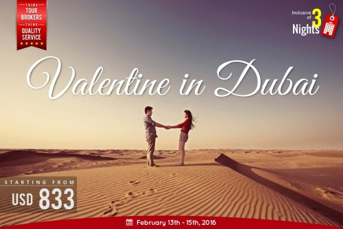 book valentine holiday package to dubai
