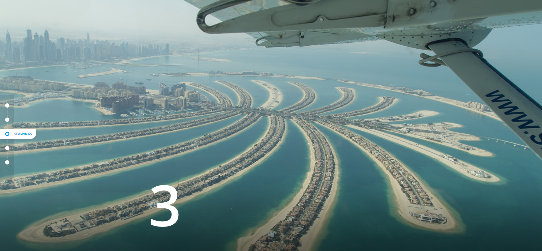 Seawings Glide over the Dubai seas MAGNIFICENT CITY VIEWS FROM THE SKY